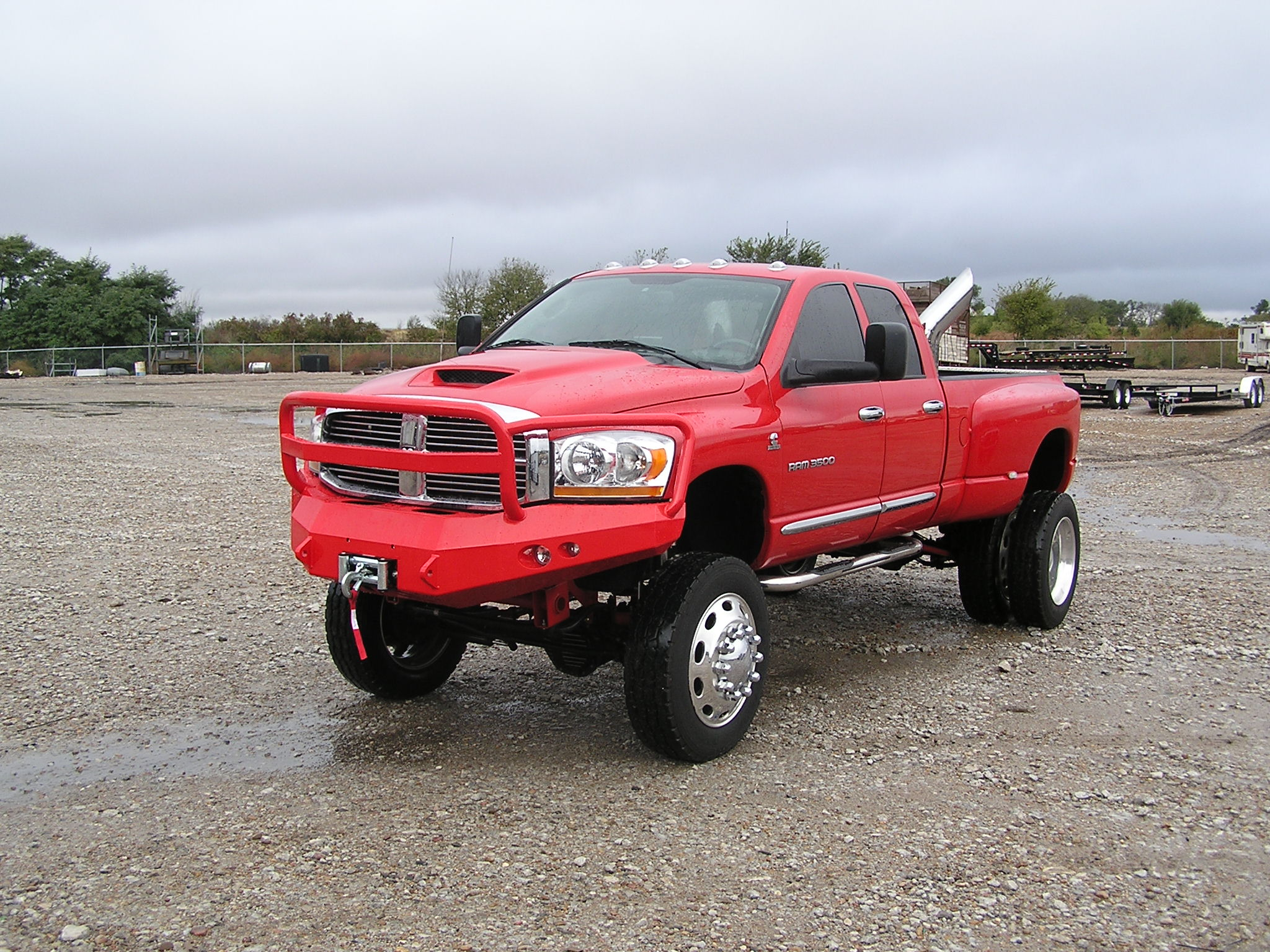 Dodge truck red