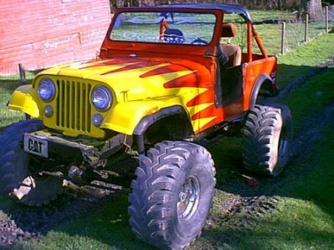 Custom made jeep