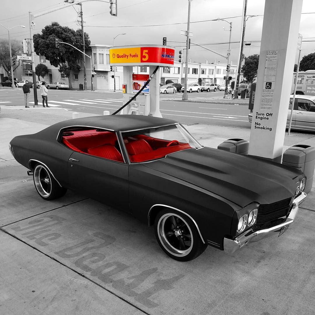 1970 Chevrolet Chevelle matte black