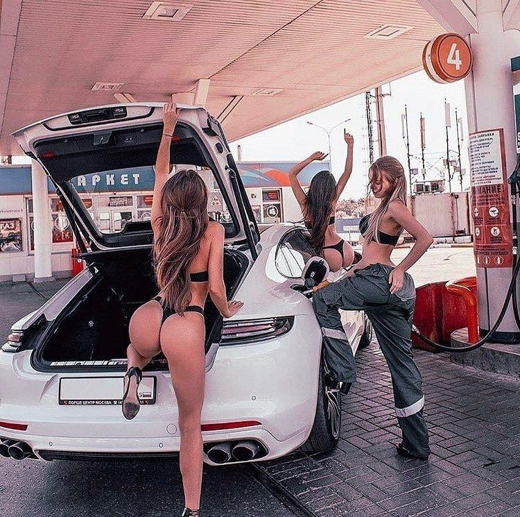 "Porsche Girls Russia on Instagram: ""Who cares about cold summer in Russia ? ? The photo borrowed from @porsche___panamera account ? #Porsche #porschemacan #macan…"""