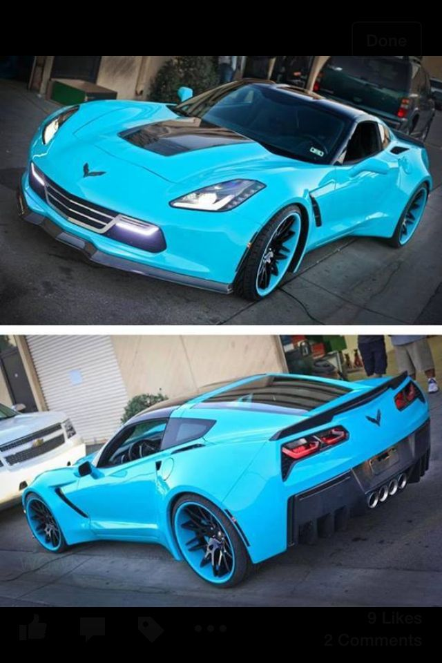 Teal Corvette