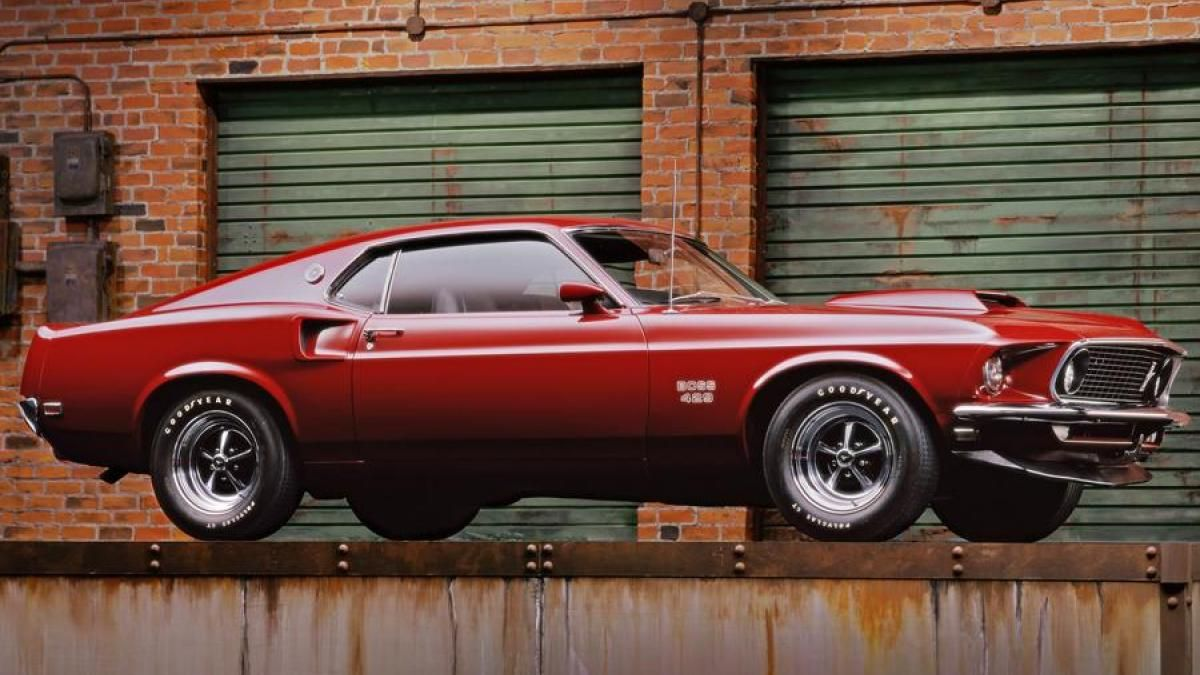 A 1969 Ford Mustang Boss 429 SportsRoof fastback is among the highlights of Clas…