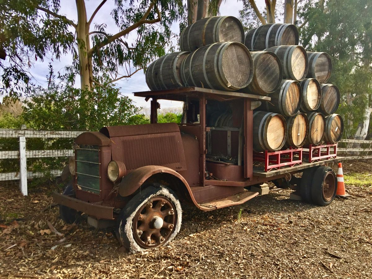 Old Italian wine delivery truck, Edna Valley, Ca