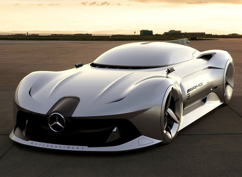 2040 mercedes-benz streamliner concept car. design: south-korean minwoong I'm | …