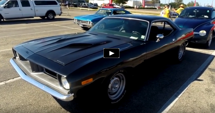 Stunning Black on Black 1973 Plymouth Cuda 440