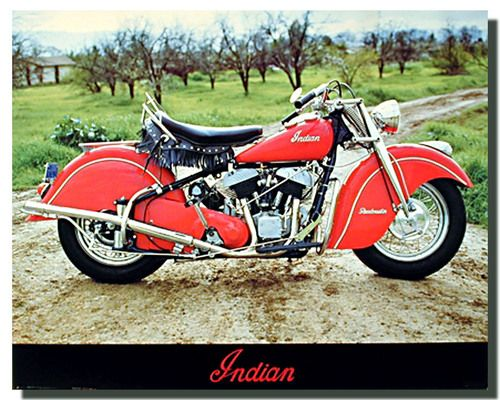 Vintage Indian Roadmaster Motorcycle Poster