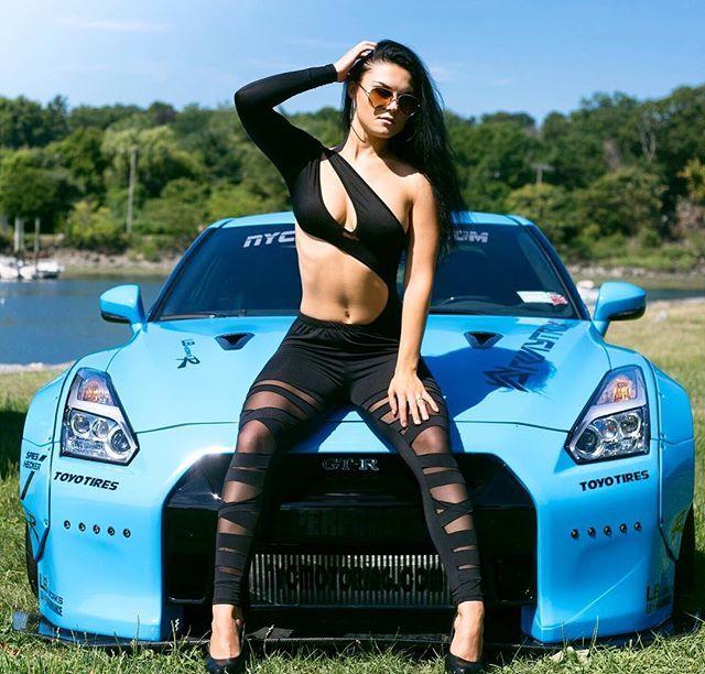 "Katrina D'york 🇺🇸🇧🇾 on Instagram: ""#nissangtr time 😉 Exotic heat🚗🔥🔥🔥 Photographer @lelandgraham  #video #nissan #gtr #hot #nycmotoring #car #motors #model #girl…"""