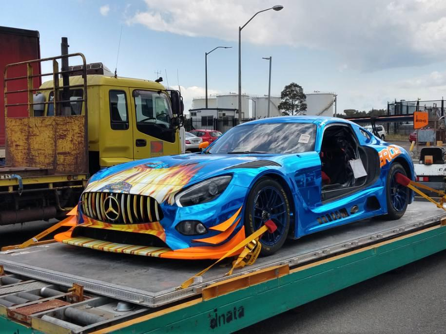 AMG GT on its way to Bathurst 12 hour