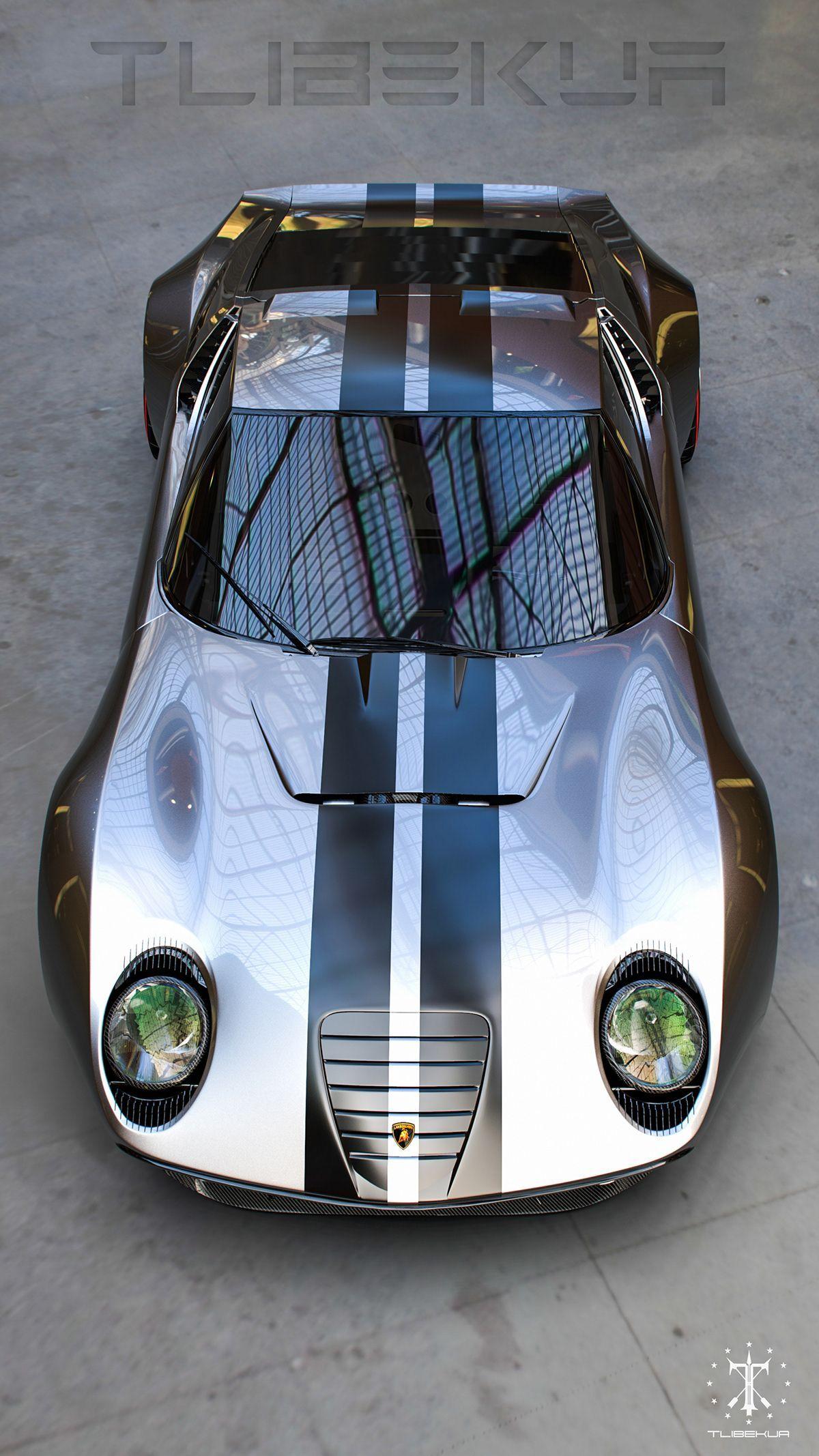 Lamborghini Miura FR on Behance #LamborghiniClassicCars
