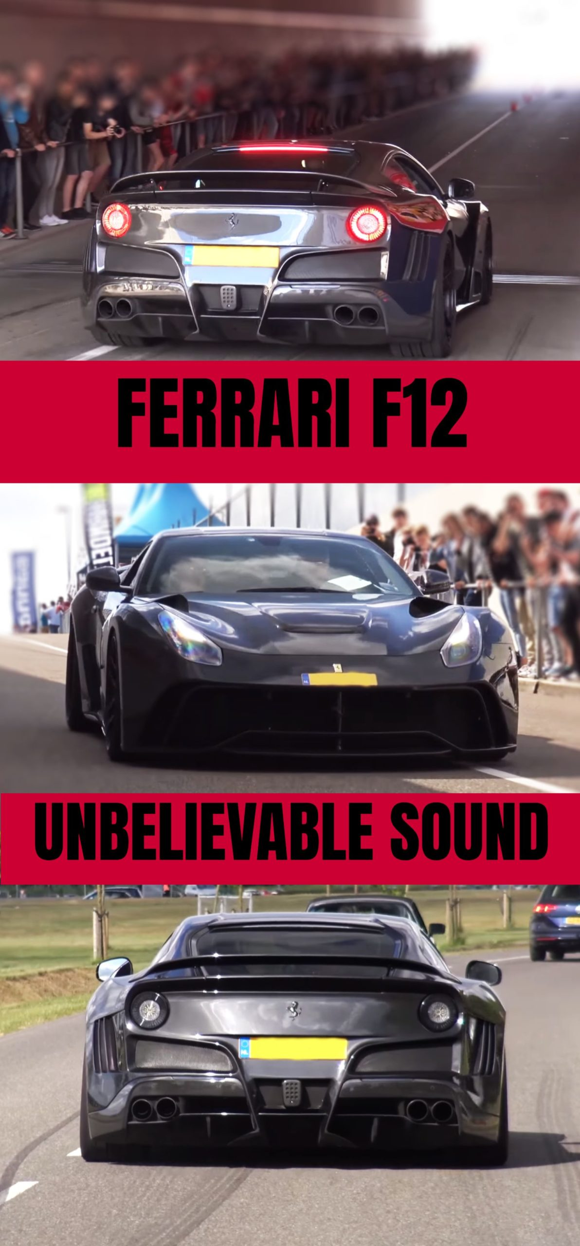 Supercars, Straight Piped Ferrari F12 – Unbelievable Sound! #ferrari #supercars …