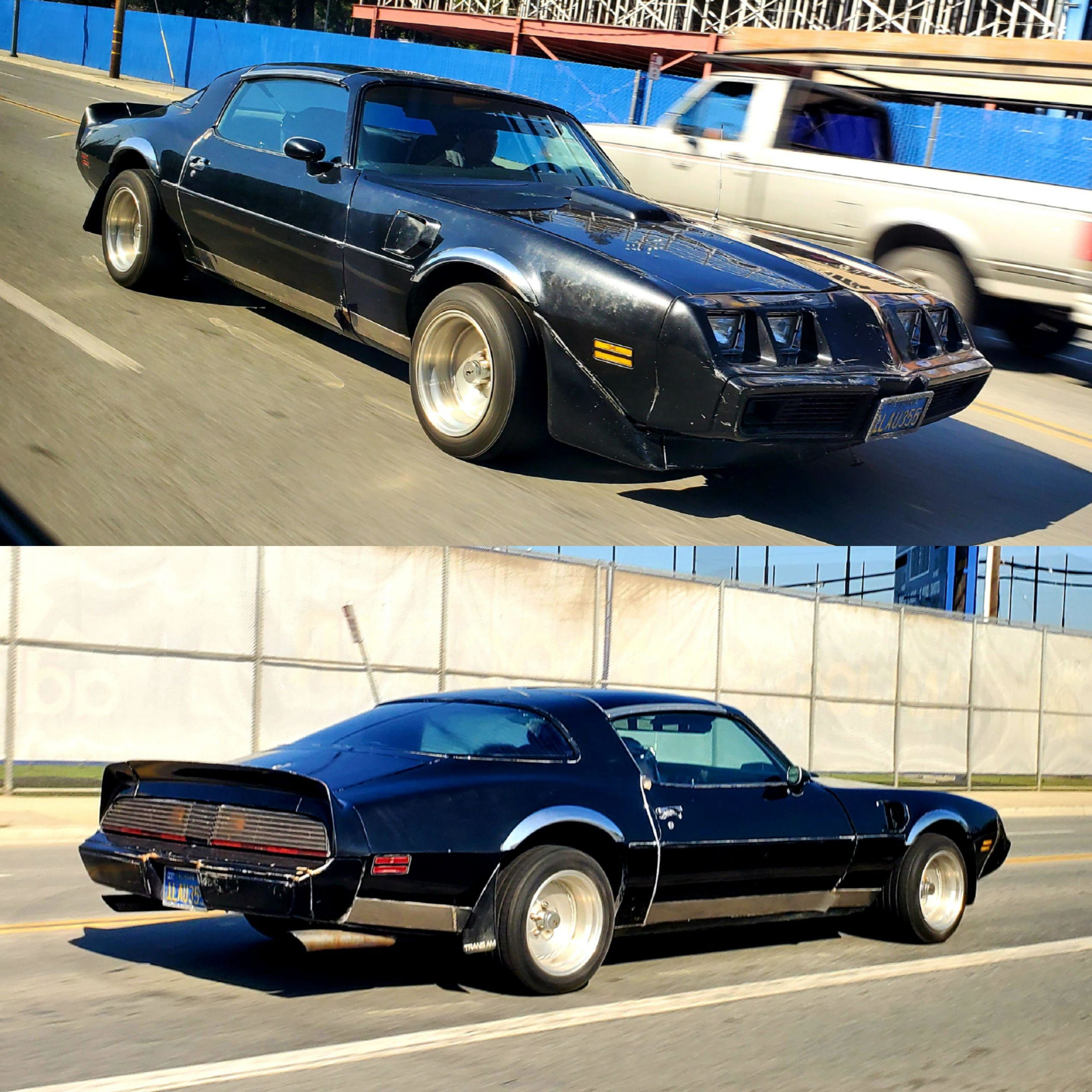 Rolling shots of an old firebird
