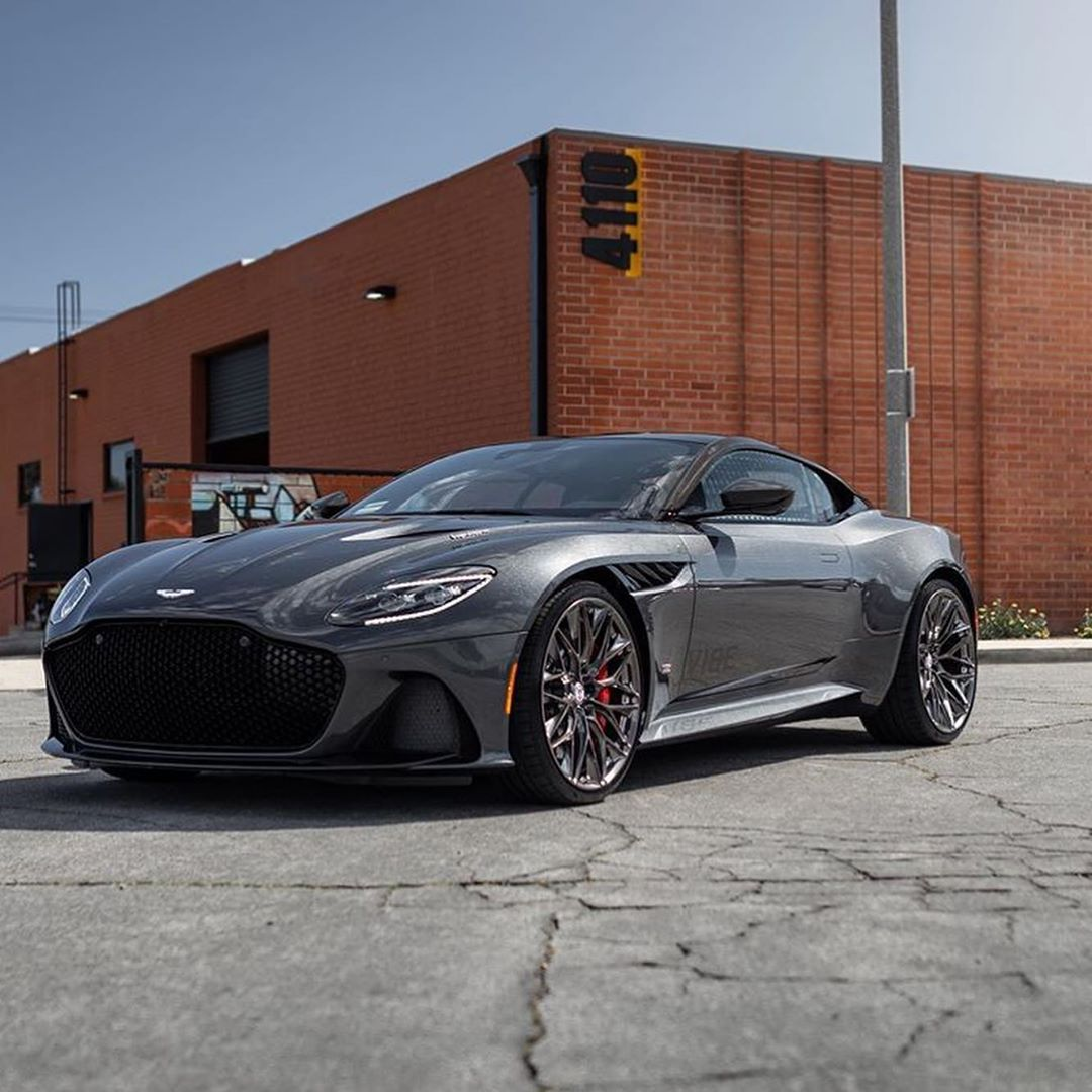 "Aston Martin on Instagram: ""What do you think about this HRE wheels on the DBS Superleggera?? Photo by: @hre_wheels  #astonmartin #dbssuperleggera #astonmartindbs #car…"""