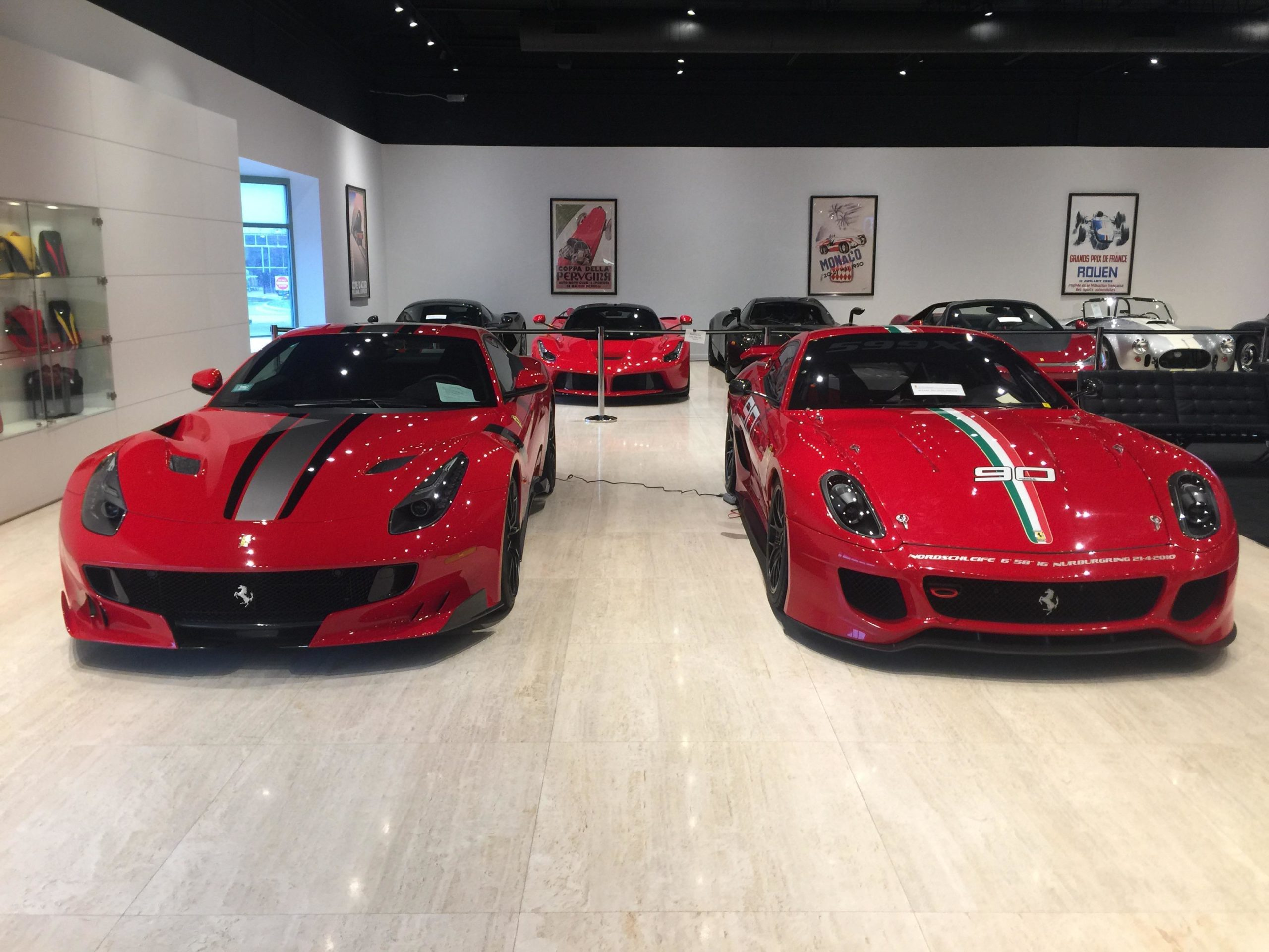 Such a gorgeous collection of cars. Ferrari F12 TDF and Ferrari 599XX.