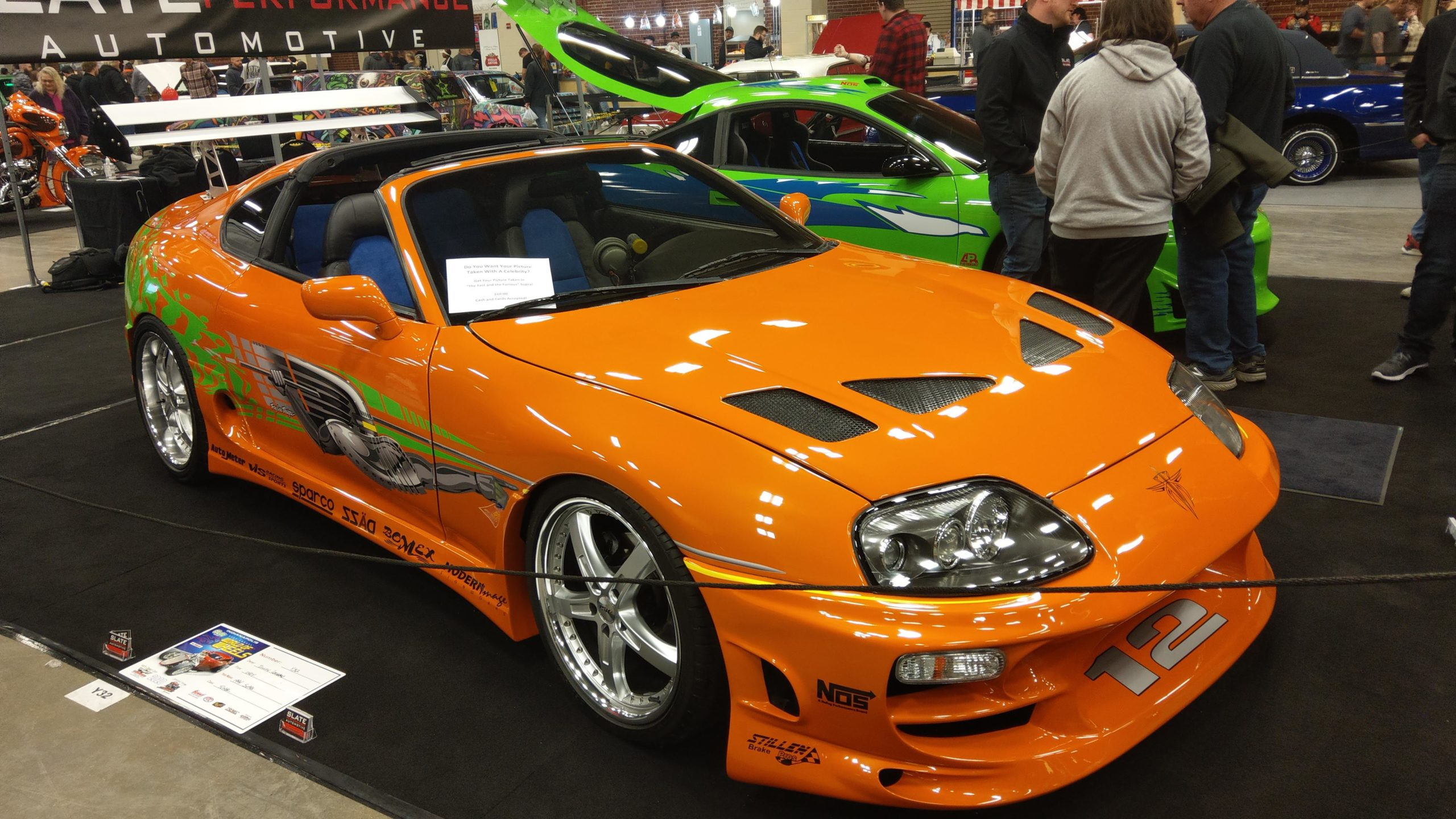 The fast and furious Toyota Supra and next to it is the Mitsubishi Eclipse
