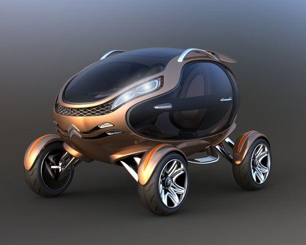 Концептуальный автомобиль-яйцо от Citroen (9 фо…