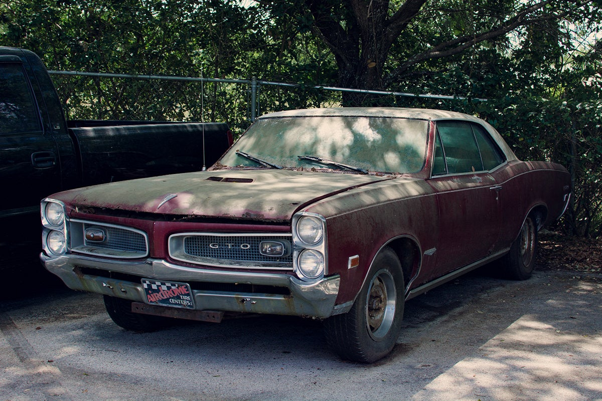 Abandoned 1967 Pontiac GTO somewhere in the US