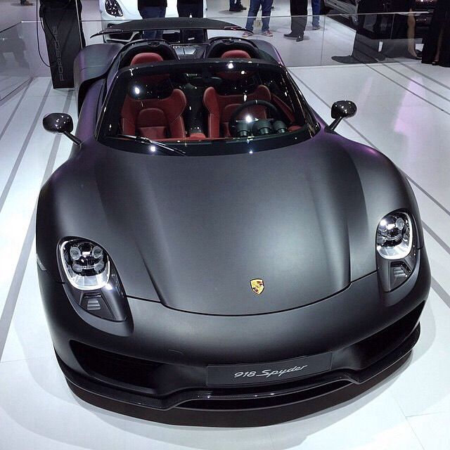 "Amazing Cars 24/7 on Instagram: ""Matte Black Porsche 918! Photographer: @renatoviani 