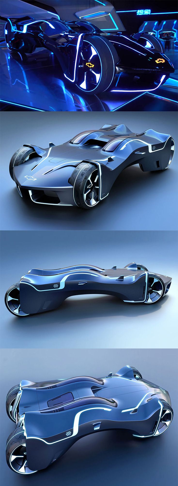 This design is a distillation of the perfect essence of Tron and Chevy in one ma…