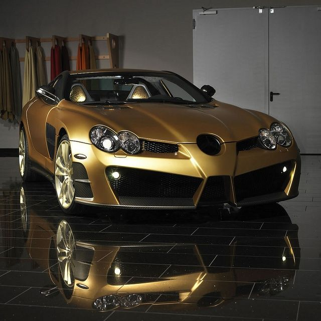 Car of the day on our page is: Mercedes Benz SLR Mclaren Renovatio Gold Edition …