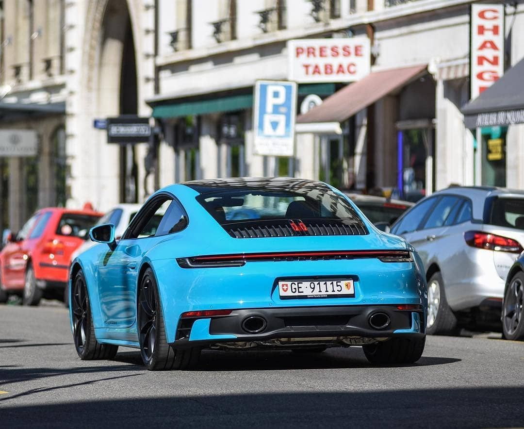"""Porsche 992 Fanpage on Instagram: """"Miami blue! 💙 📸 @supercars.spotter • Follow @porsche.992 for more! 🏆 • #carlifestyle #carlife #carsandcoffee #carswithoutlimits…"""""""
