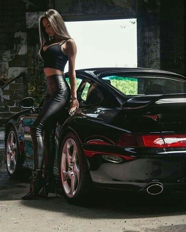 The girl or the car?Both!