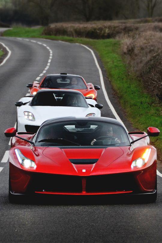 """italian-luxury: """"Ferrari LaFerrari x Porsche 918 Spyder x McLaren P1"""""""