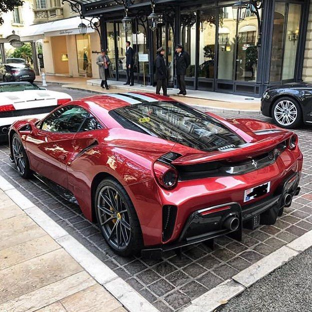 "Ferrari 488 Pista on Instagram: ""THIS COLOUR IS ??!! Outside Hôtel Hermitage Monte Carlo ?? ———————————————————— Via: @w16_car_spotting #488 #488pista #speciale #pista…"""
