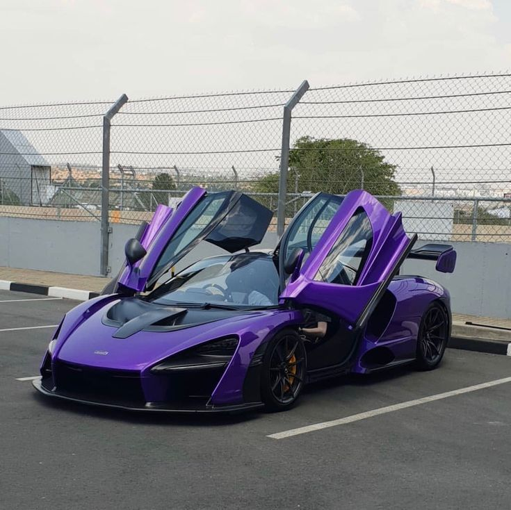 McLaren Senna chassis #111 painted in MSO R Singh Purple w/ exposed carbon fiber…