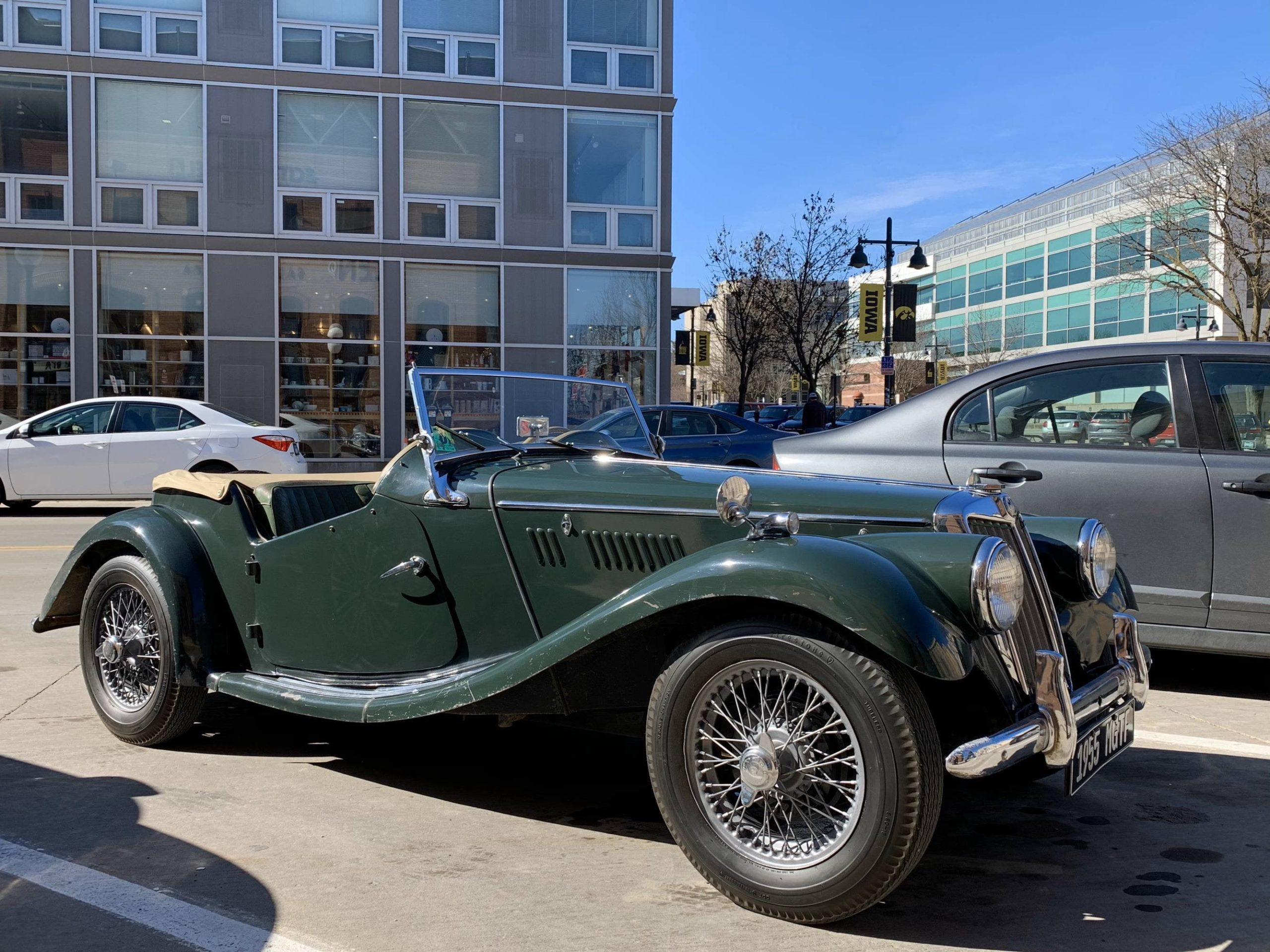 1955 MG TF Roadster, downtown Iowa City [OC]
