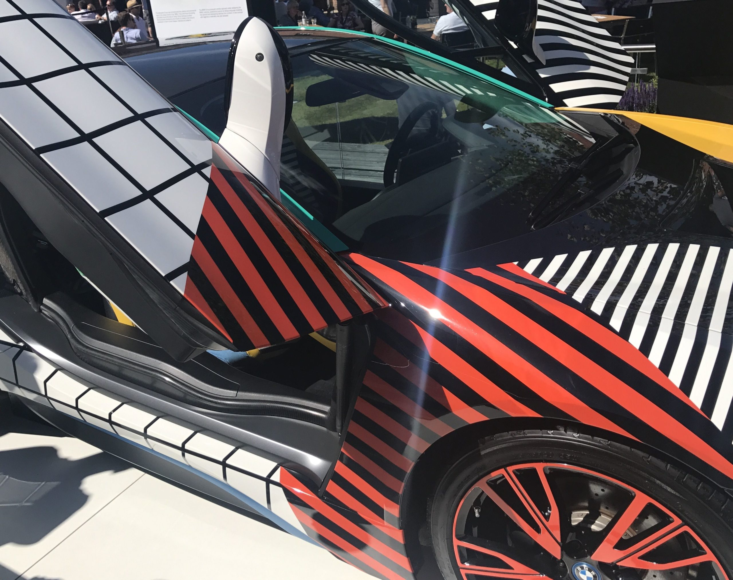 BMW i8 Memphis art car (photo – Andy Pidgeon)