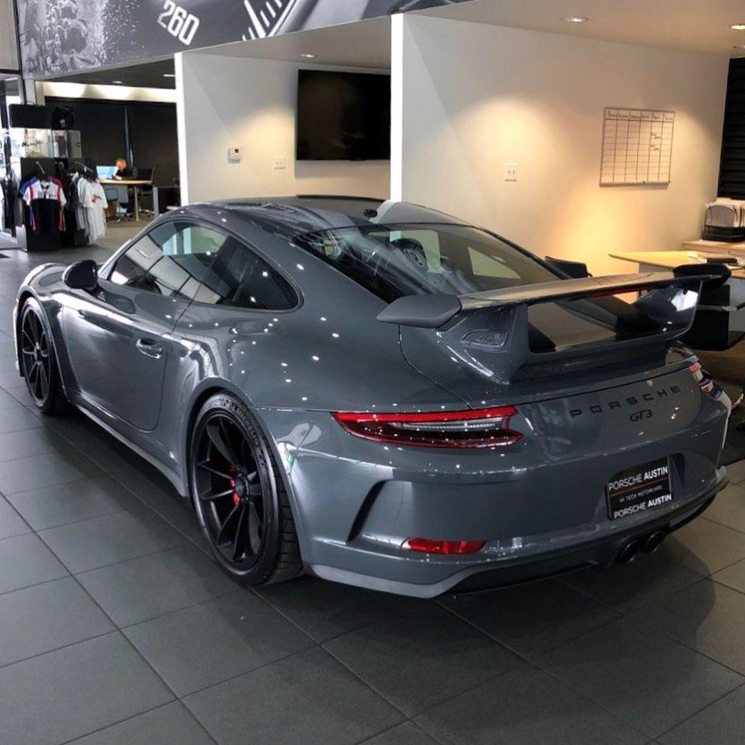 "Will Lee | PTSRS on Instagram: ""Presenting the third known PTS Grigio Telesto Metallic (Z69) 991.2 GT3, delivered to one of our readers @chadgilsinger in Austin, Texas.…"""