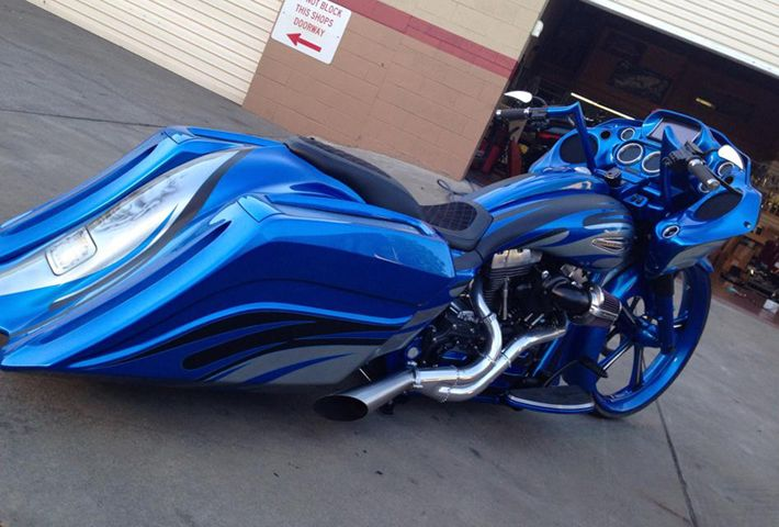 Custom Harley Paint Jobs | Harley Bagger Custom Paint Jobs | Car Interior Design