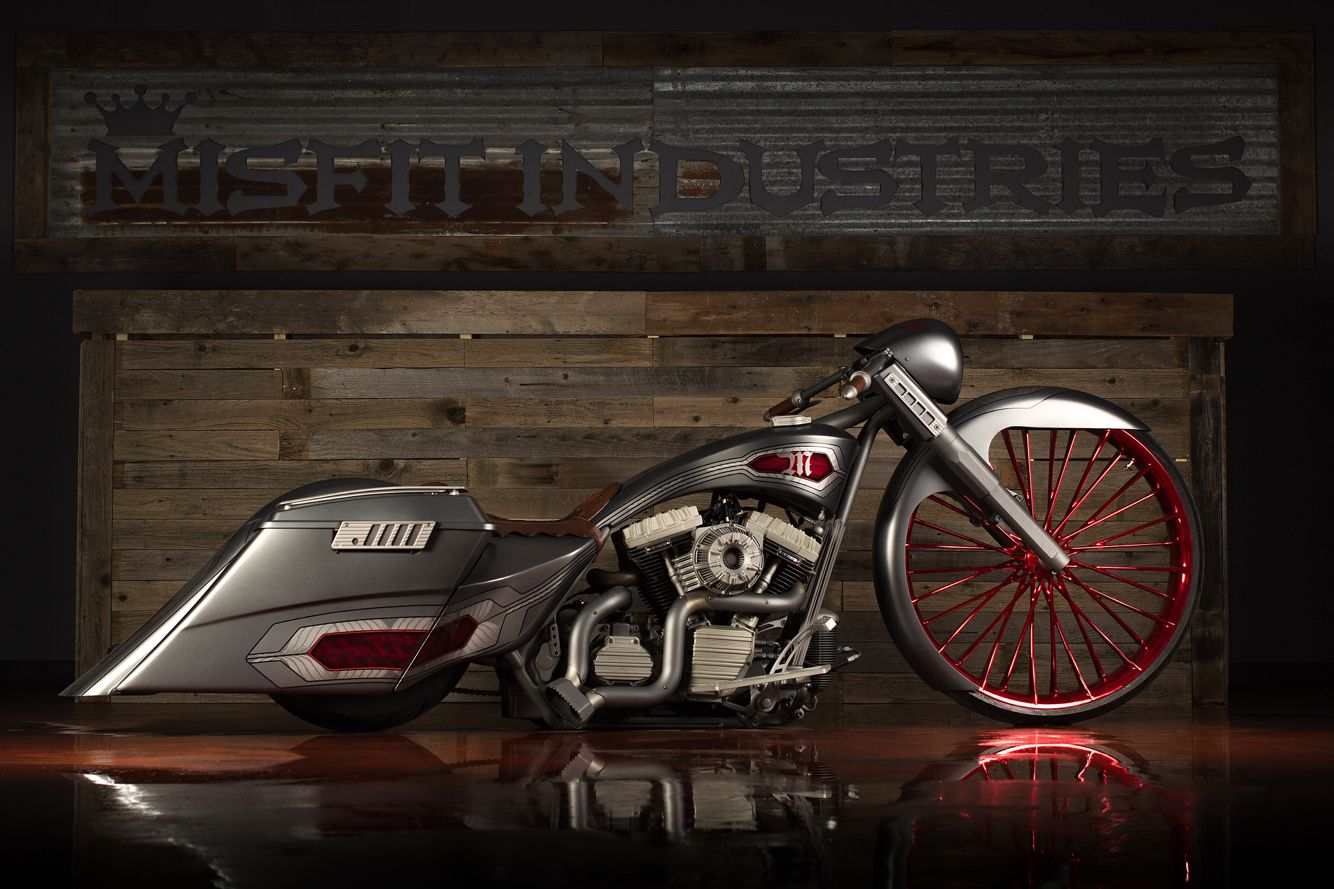 Misfit Made Custom Motorcycle. Harley Davidson
