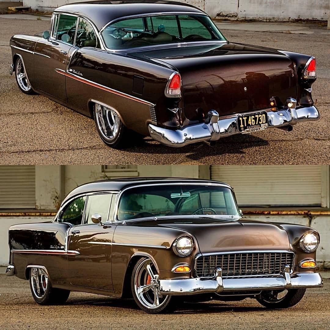 "Speed Legends on Instagram: ""'55 #Chevy #Belair ? @eleganceautointeriors ? @mcgaffinphoto  #Classic #classiccar #driver #vehicles #street #instaauto #auto  #exotic_cars…"""