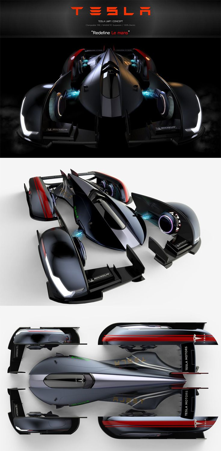 The Tesla LMP1 looks like Bruce Wayne, Tony Stark, and the Speed Racer co-create…