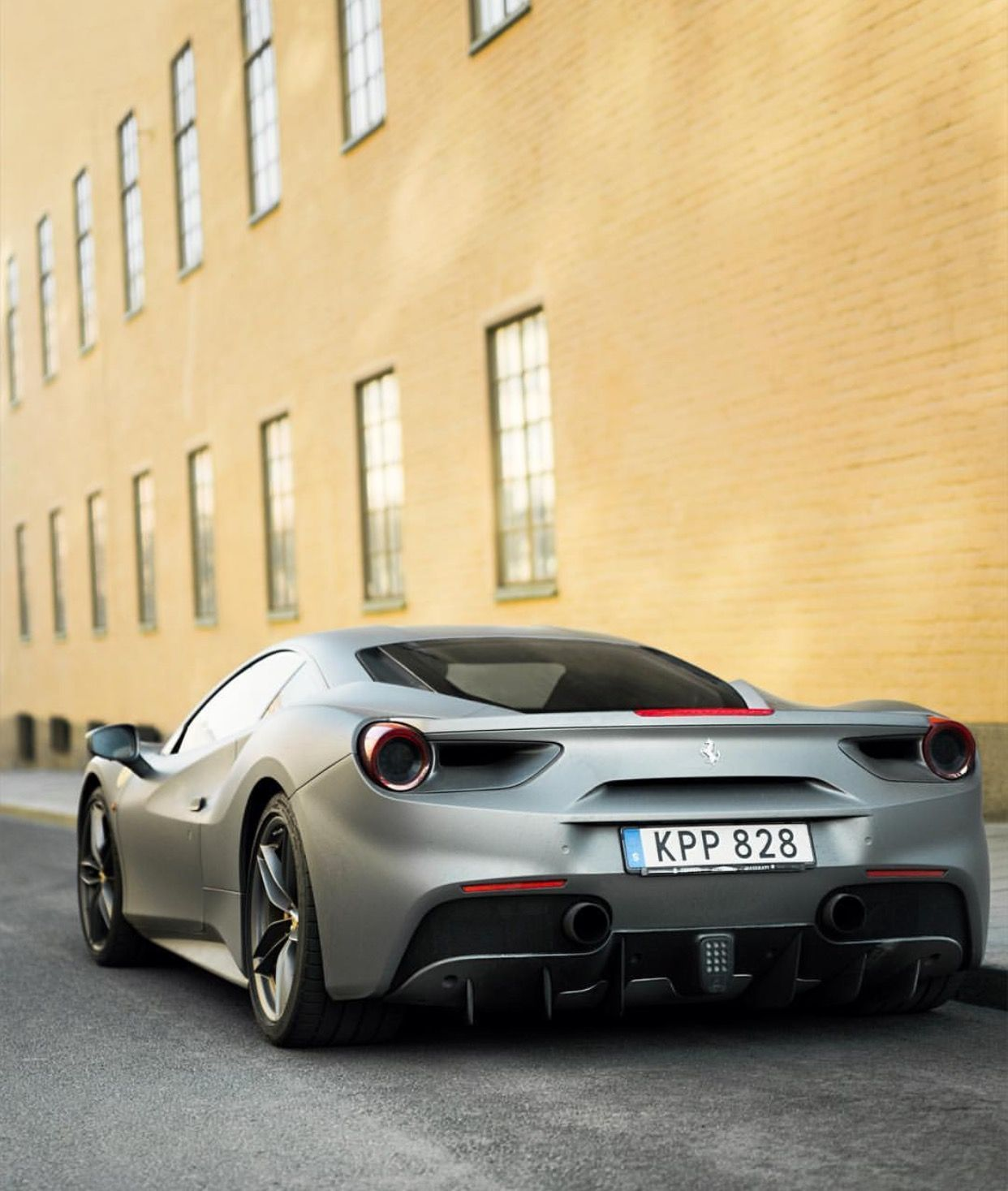 Ferrari 488 GTB painted in Matte Silver Photo taken by: @aaltomotive on Instagra…
