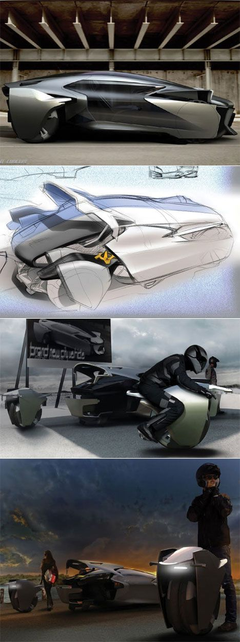 Bobin Kil's car concept with removeable, driveable wheels Posted by hipstomp / R…