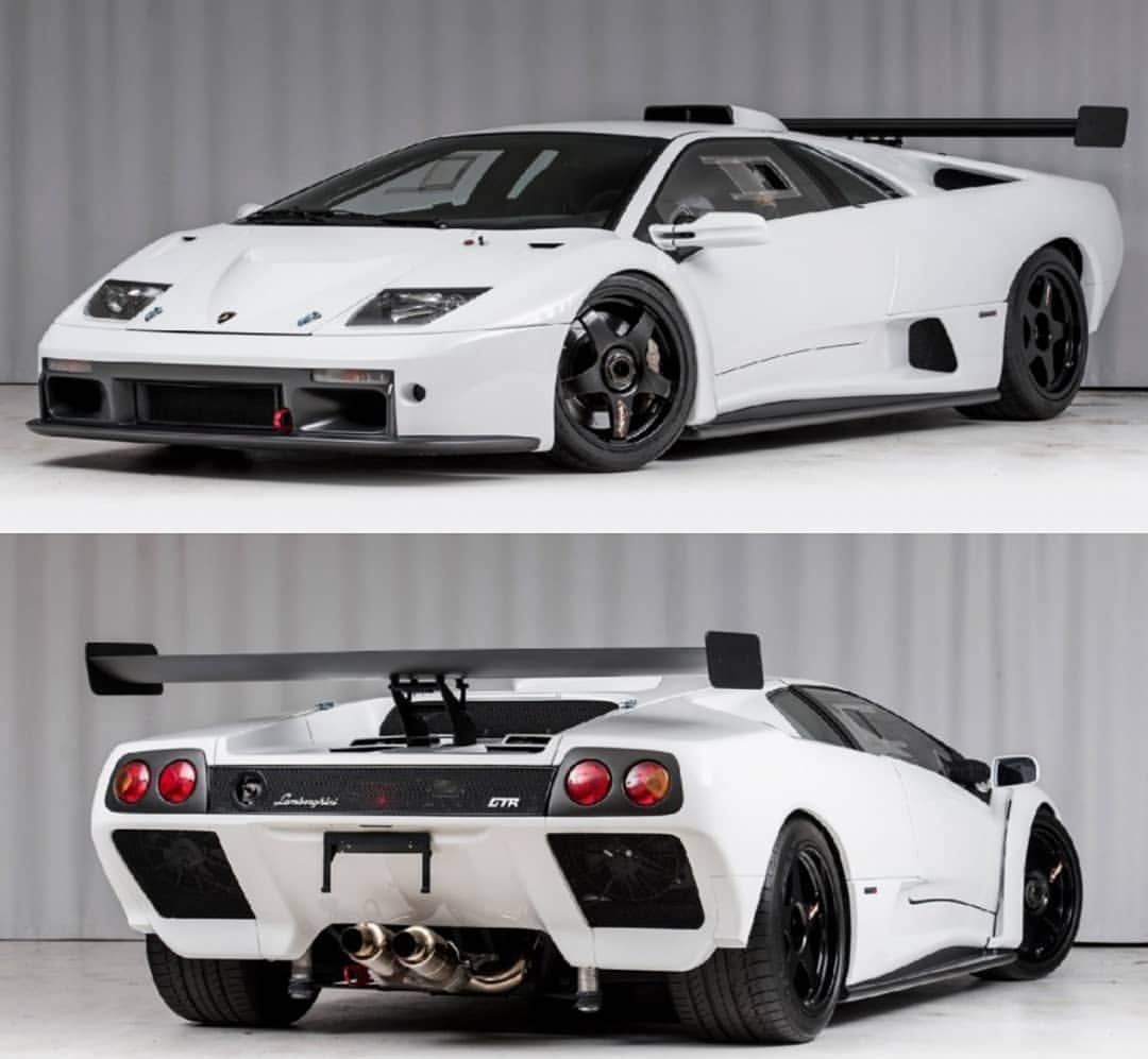 1 of 30. White Lamborghini Diablo GTR