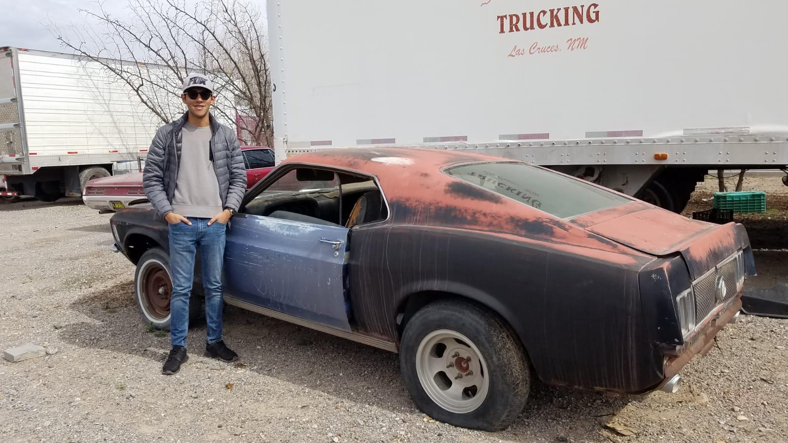 After 10 years of my dad selling his 1970 Mach 1, he bought one again! This project will take around 2 years. The one we used to have was grabber blue with the 351 4V V8, I'm super excited! (Already posted this on another subreddit but still wanted to share with everyone)