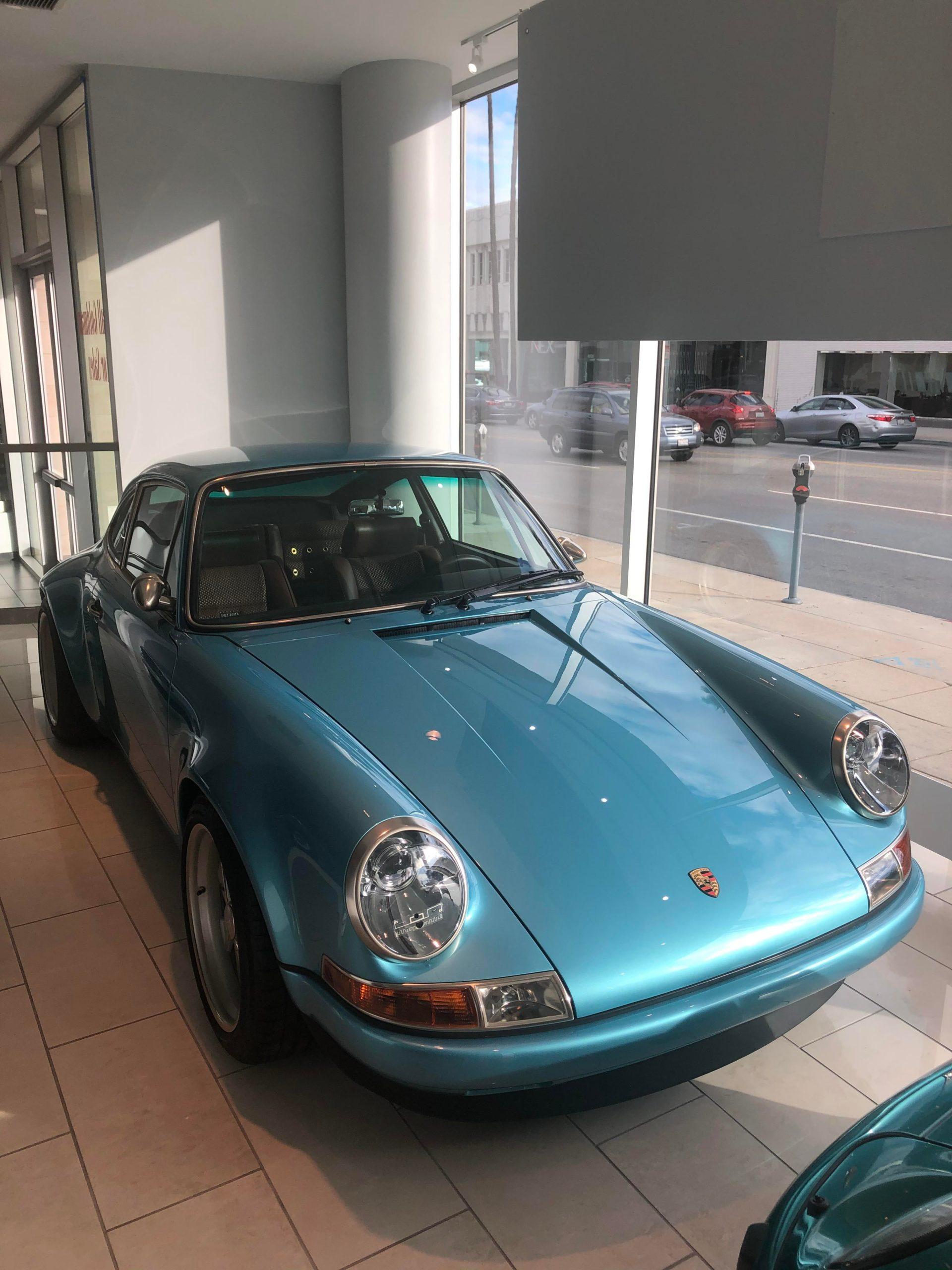 Amazing blue on this Porsche Singer