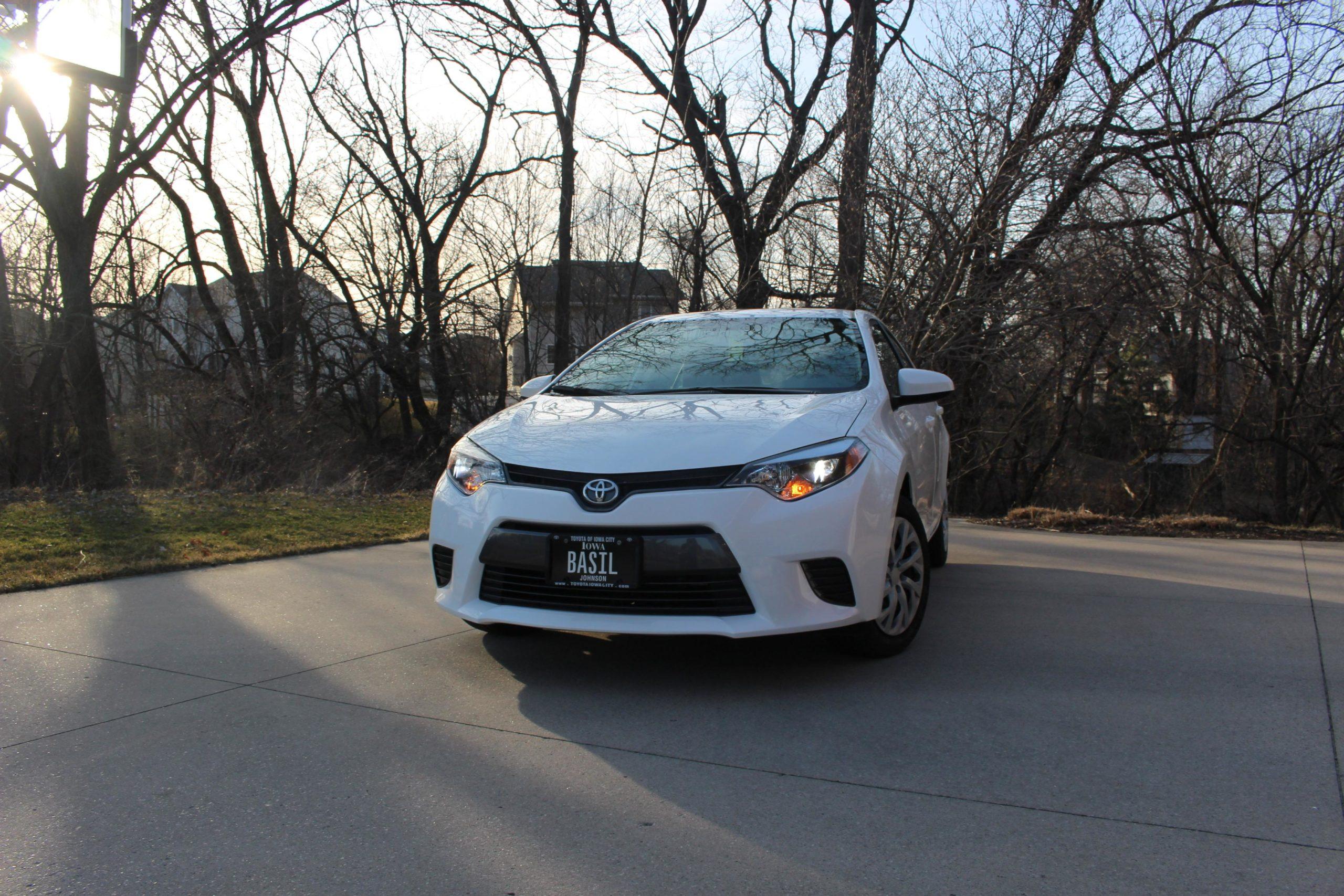 Not a super car but it's my little Corolla my parents got me