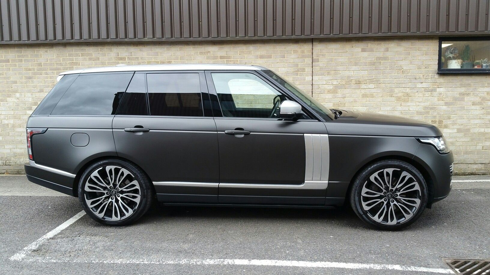 Range rover wrapped in our exclusive pwf diamond matt black