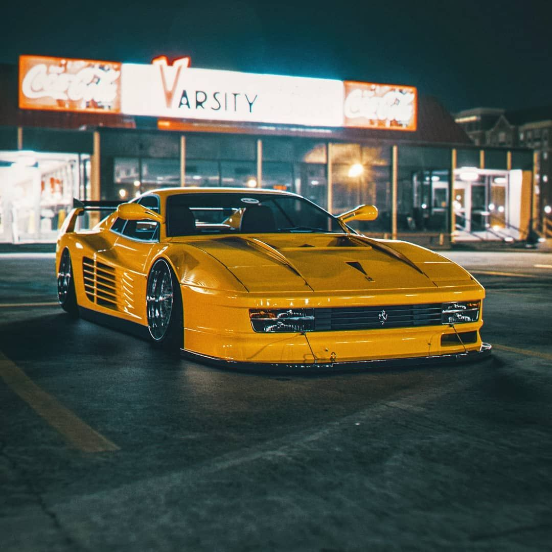 "Khyzyl Saleem on Instagram: ""Another look at my Testarossa x F40 mashup I made last year. Was curious at the time haha. – – #art #design #3d #ferrari #testarossa #f40…"""