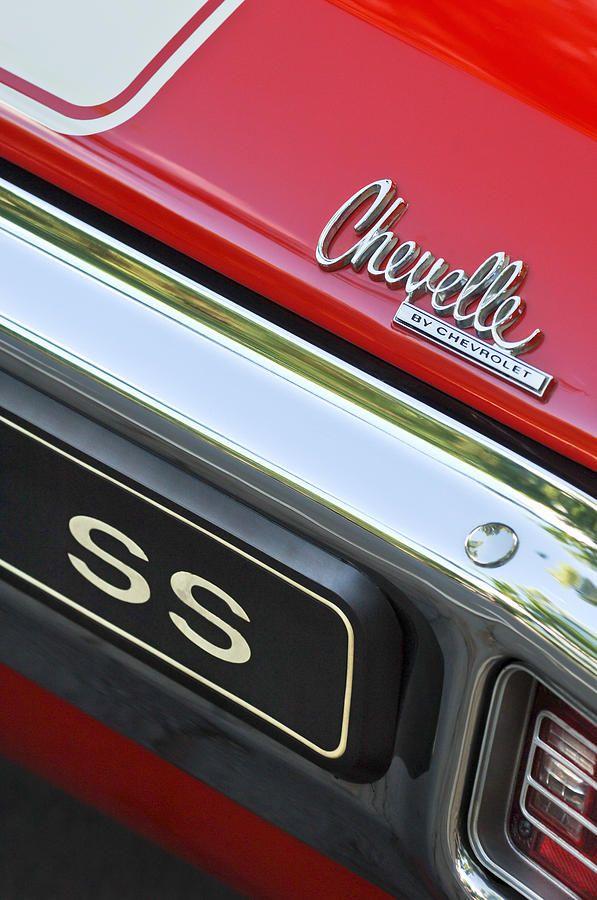 1970 Chevrolet Chevelle SS Taillight Emblem by Jill Reger