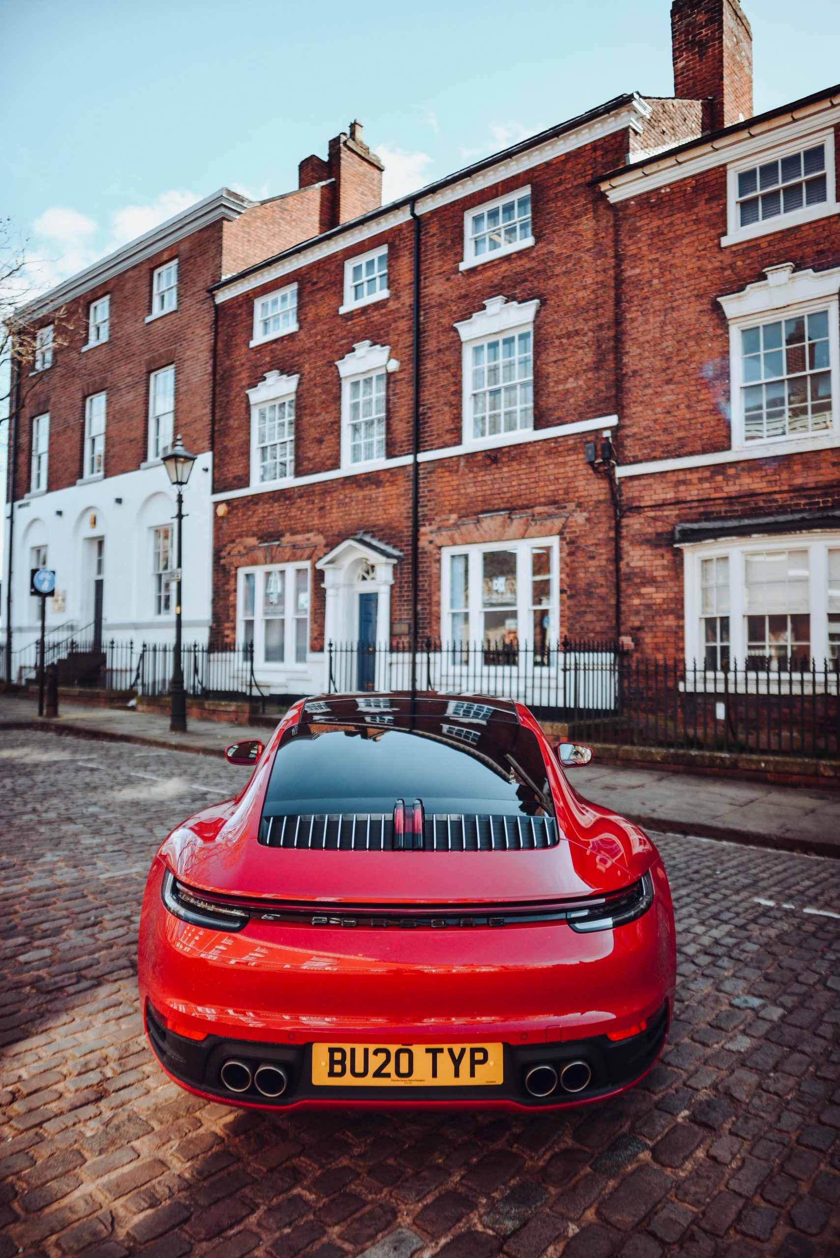 Porsche 992 Carrera 4S in Carmine Red I got to shoot before lockdown. Ridiculously quick and awesome to look at.