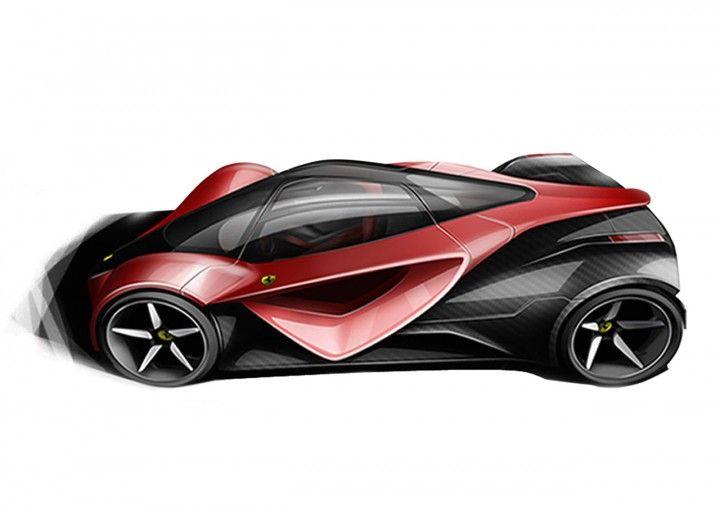 Ferrari F25 Superfast Design Sketch