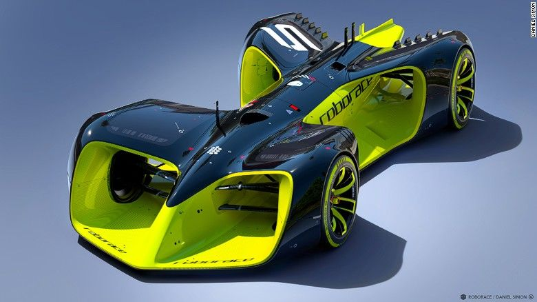 Roborace concept for a driverless race series to compliment the Formula E Electr…