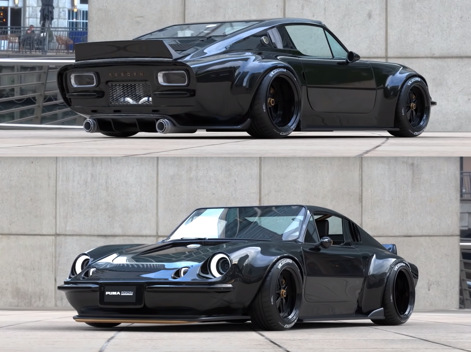 Custom PUMA GTE, a car with a glass fiber body built over a VW BEETLE chassis and engine with a few tweaks. It was sold in Brazil many years ago and it is a Brazilian classic.