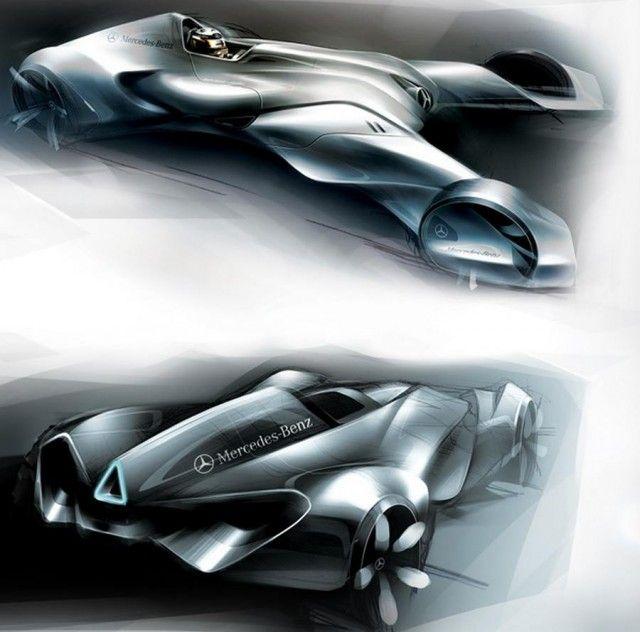 F1futuristic concept car | wordlessTech