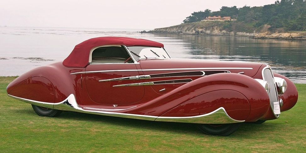 Best Art Deco car ever? The 1939 Delahaye 165 M Figoni & Falaschi cabriolet was created for the New York World's Fair